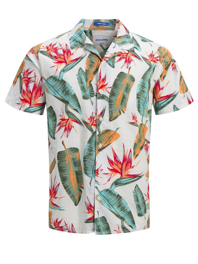 CHEMISE MANCHES COURTES STYLE TROPICAL NUAGE