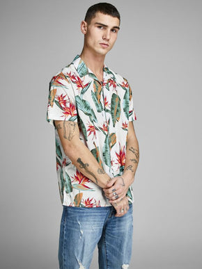 TROPICAL PRINT SHORT SLEEVE SHIRT