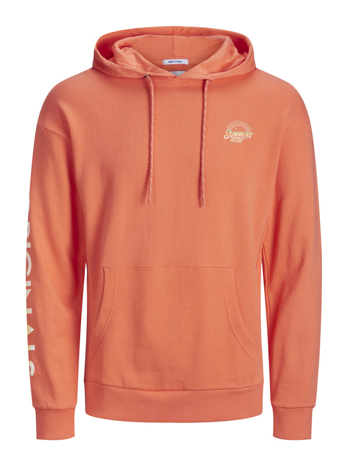 SUMMER HOODIE WITH GRADIENT EFFECT PERSIMMON