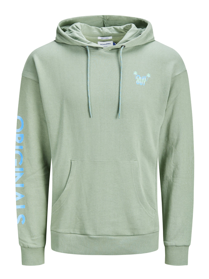 SUMMER HOODIE WITH GRADIENT EFFECT GREEN BAY