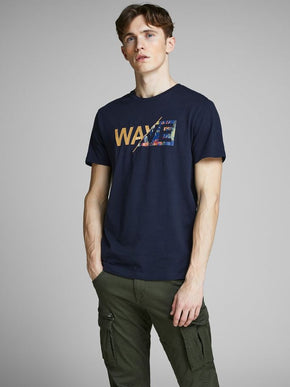 SURF T-SHIRT WITH SPLIT LOGO