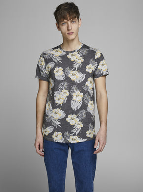 TROPICAL T-SHIRT WIH FADED DESIGN