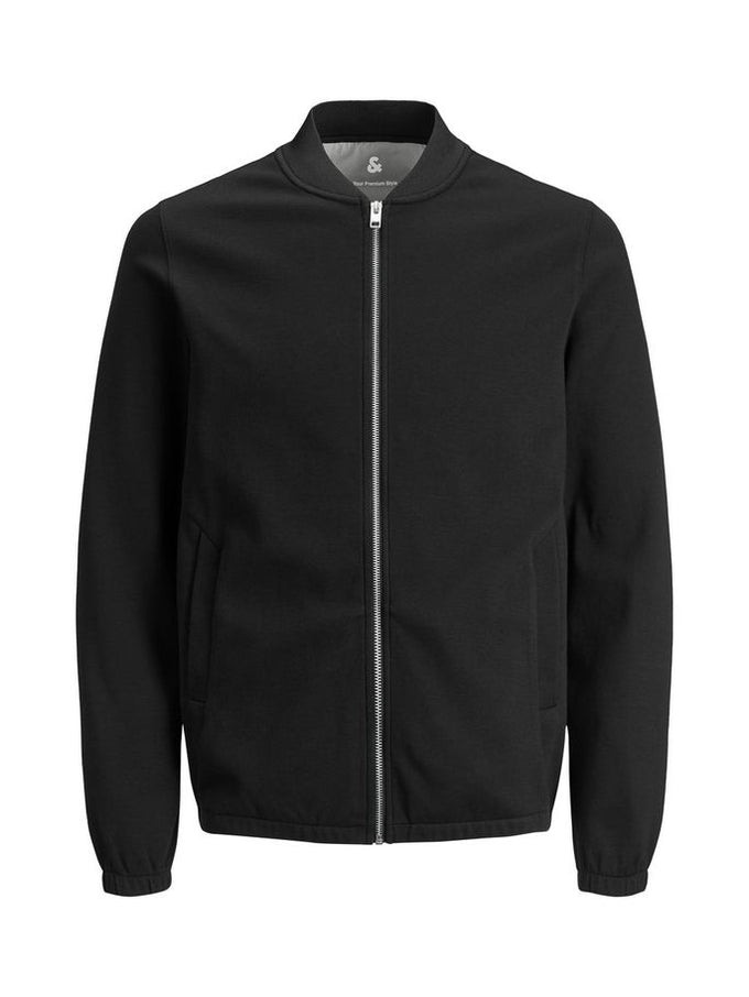 SWEAT STYLE BOMBER JACKET BLACK