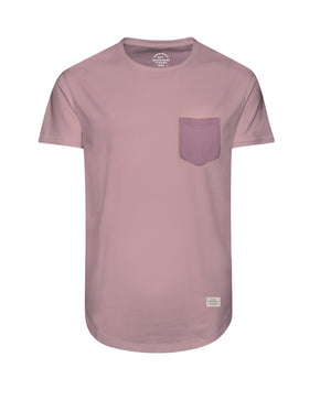 LONG CURVED T-SHIRT WITH POCKET
