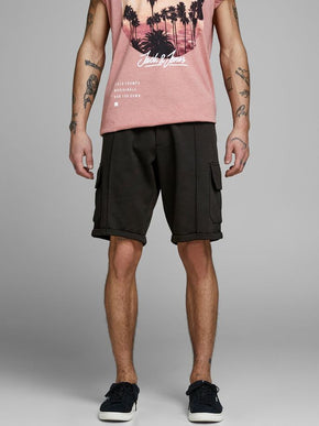 LONG CARGO STYLE SWEAT SHORTS