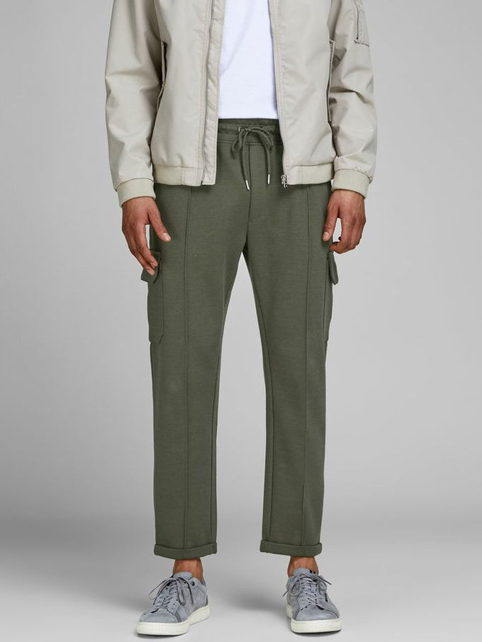 TAPERED FIT CARGO PANTS FOREST NIGHT