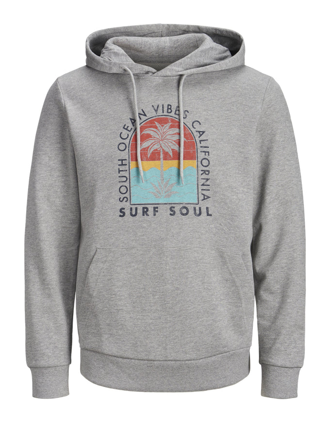 SUMMERTIME ORIGINALS HOODIE LIGHT GREY MELANGE