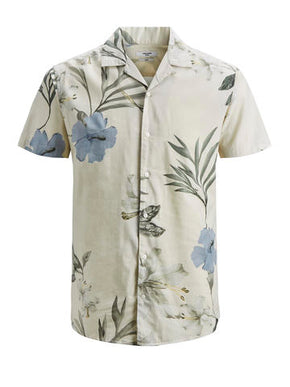 VISCOSE BLEND HAWAII SHORT SLEEVE SHIRT