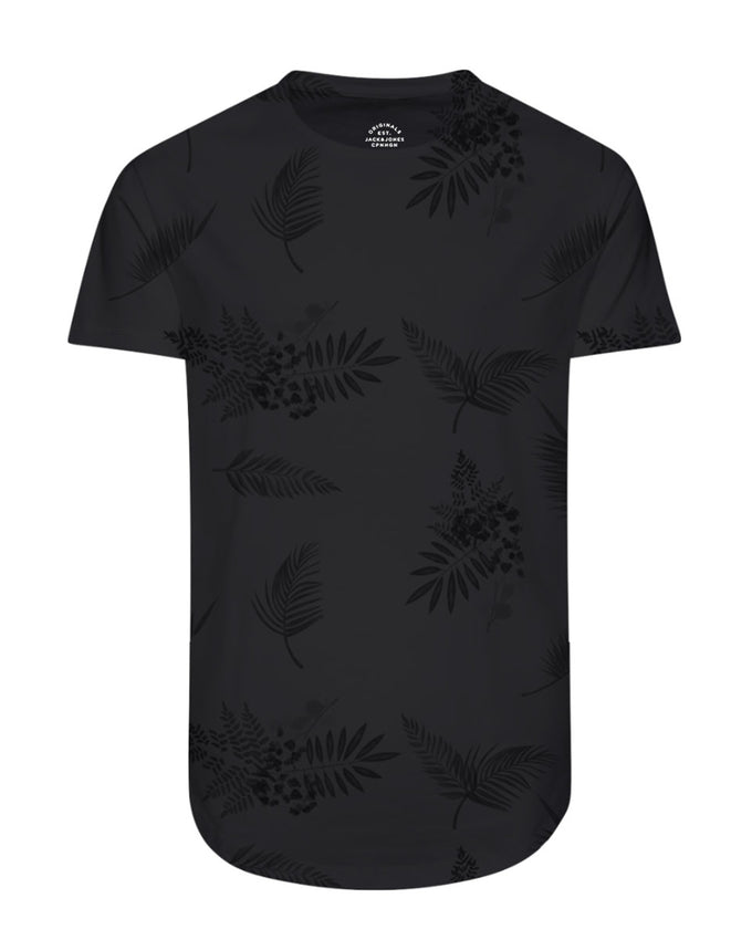 FINAL SALE – TROPICAL LONG CURVED T-SHIRT TAP SHOE