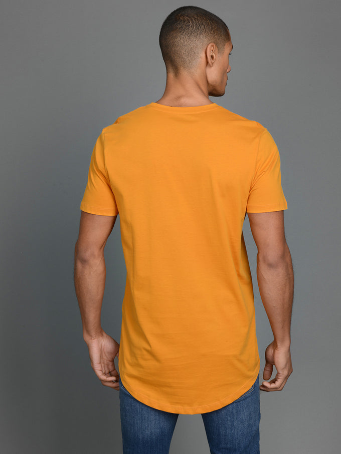 NOA LONG FIT CURVED T-SHIRT SUNFLOWER