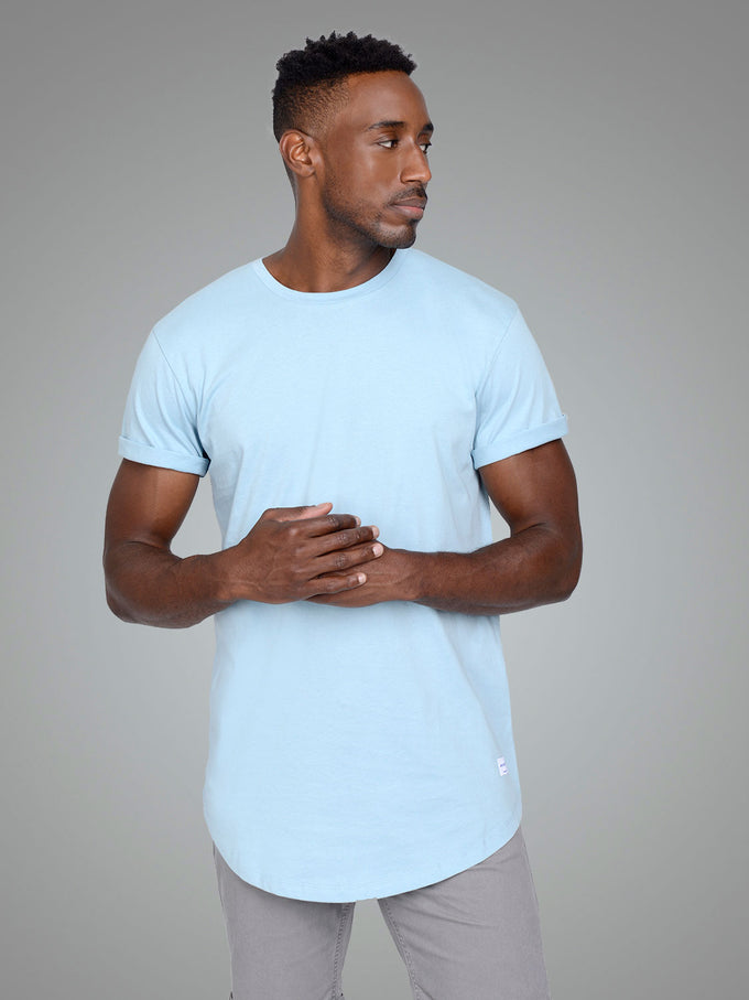 NOA LONG FIT CURVED T-SHIRT FORGET-ME-NOT