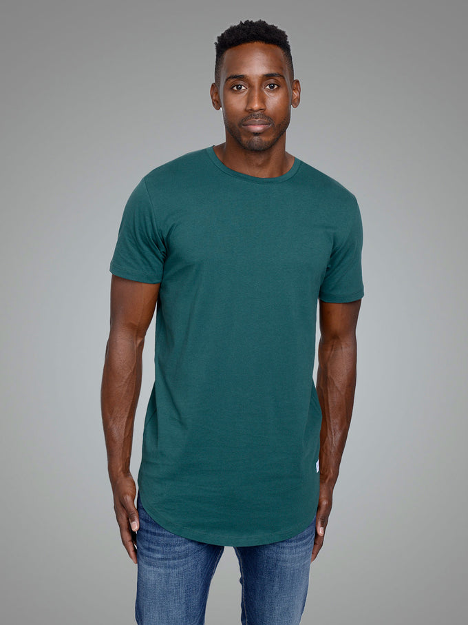 NOA LONG FIT CURVED T-SHIRT SEA MOSS