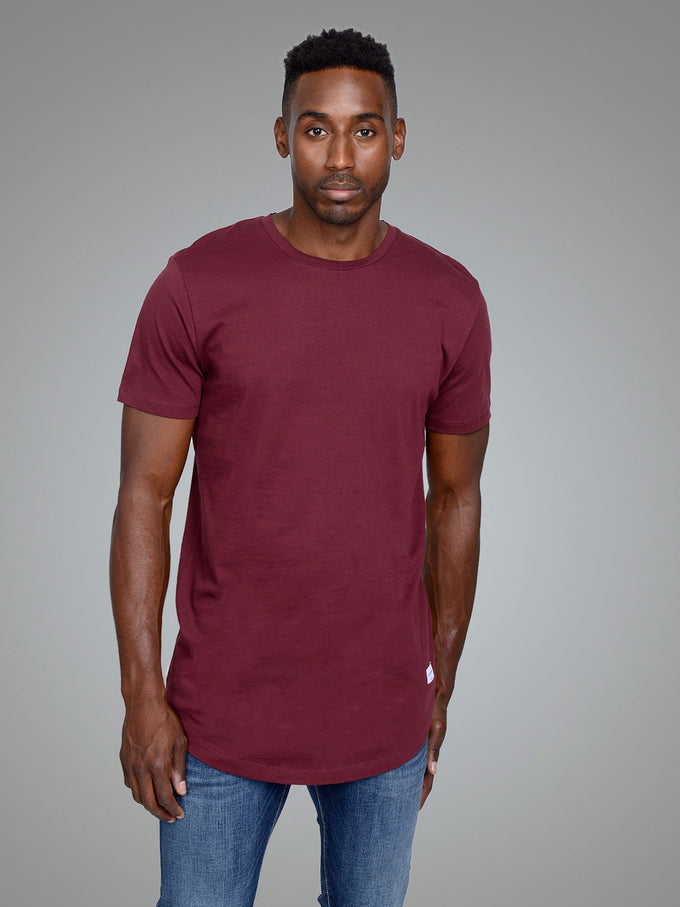 NOA LONG FIT CURVED T-SHIRT PORT ROYALE
