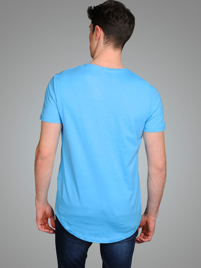 NOA LONG FIT CURVED T-SHIRT BONNIE BLUE