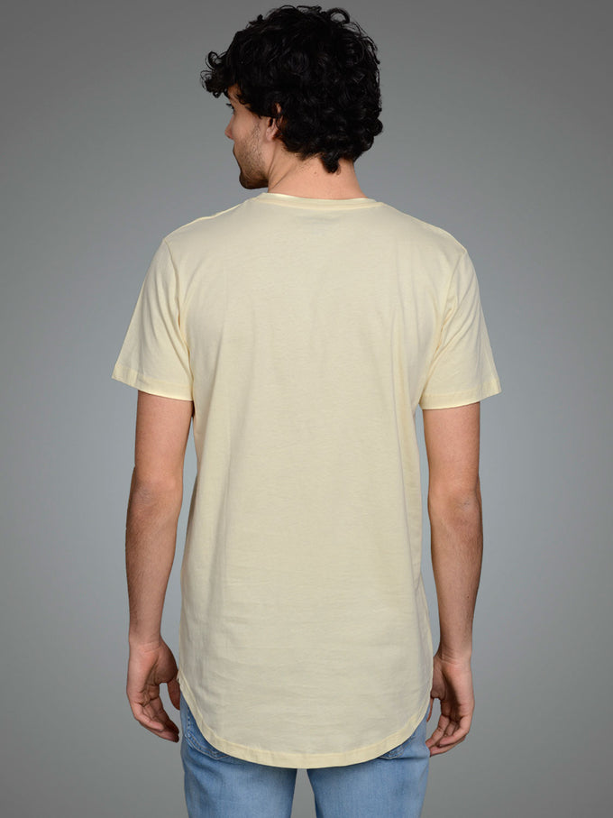 NOA LONG FIT CURVED T-SHIRT FLAN