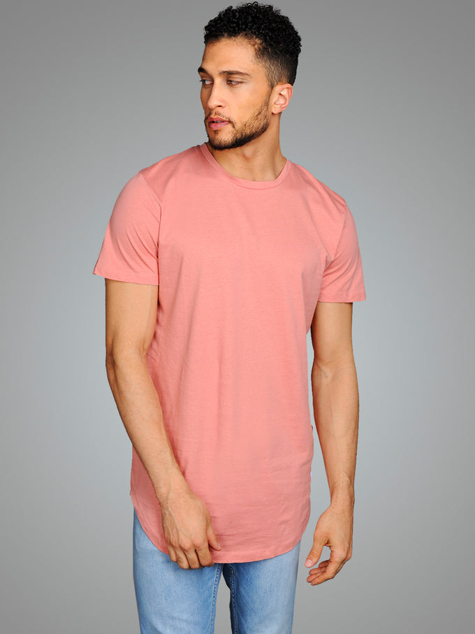 NOA LONG FIT CURVED T-SHIRT ROSETTE