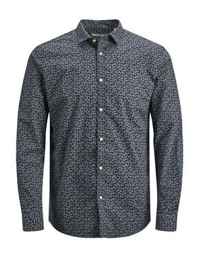 SLIM FIT SHIRT WITH FLORAL DETAILS