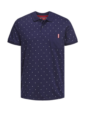 CORE POLO WITH AMPERSAND PRINT
