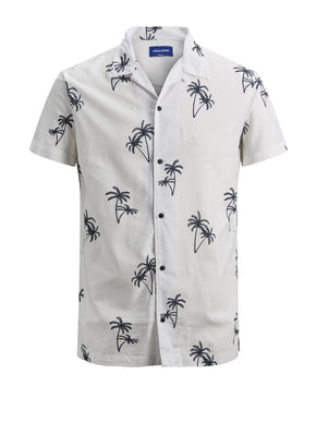 FINAL SALE – PALM PRINT SHORT SLEEVE SHIRT