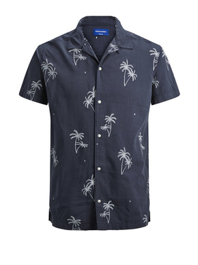 PALM PRINT SHORT SLEEVE SHIRT