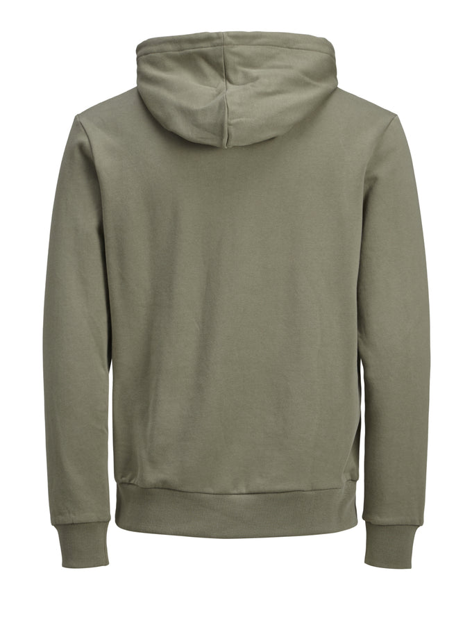 ORIGINALS HOODIE WITH CAMO DETAILS DUSTY OLIVE