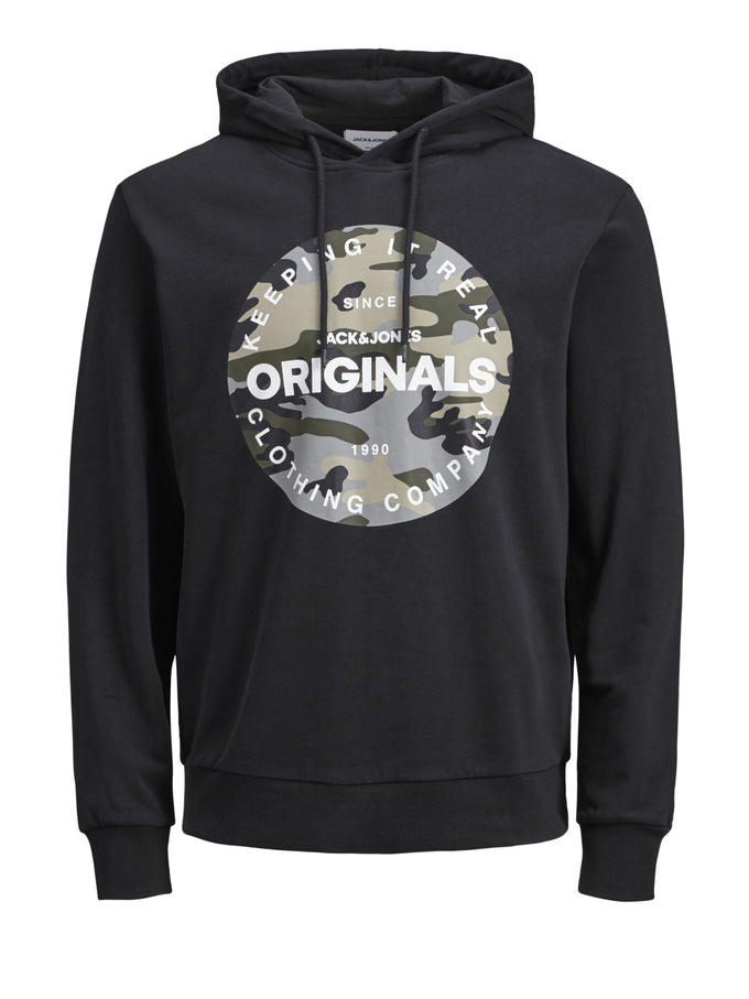 ORIGINALS HOODIE WITH CAMO DETAILS TAP SHOE