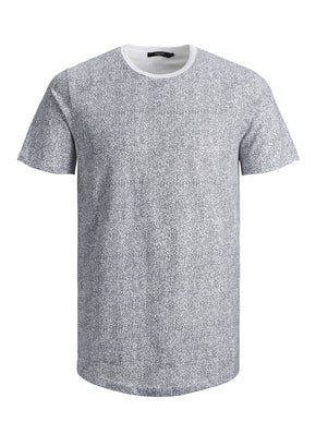 LONG FIT MICRO-PRINT T-SHIRT