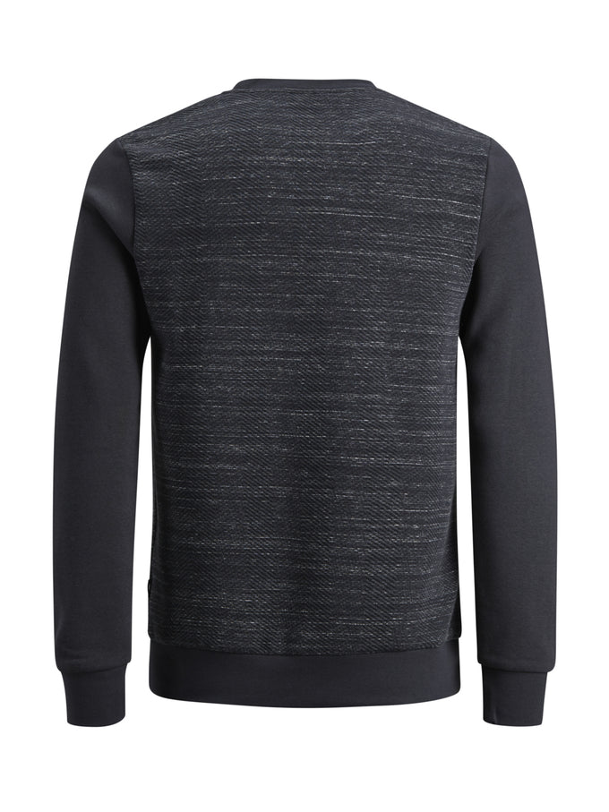 CORE CREWNECK WITH TEXTURED BODY DARK NAVY