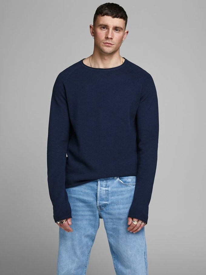 LIGHTWEIGHT ESSENTIAL SWEATER ENSIGN BLUE