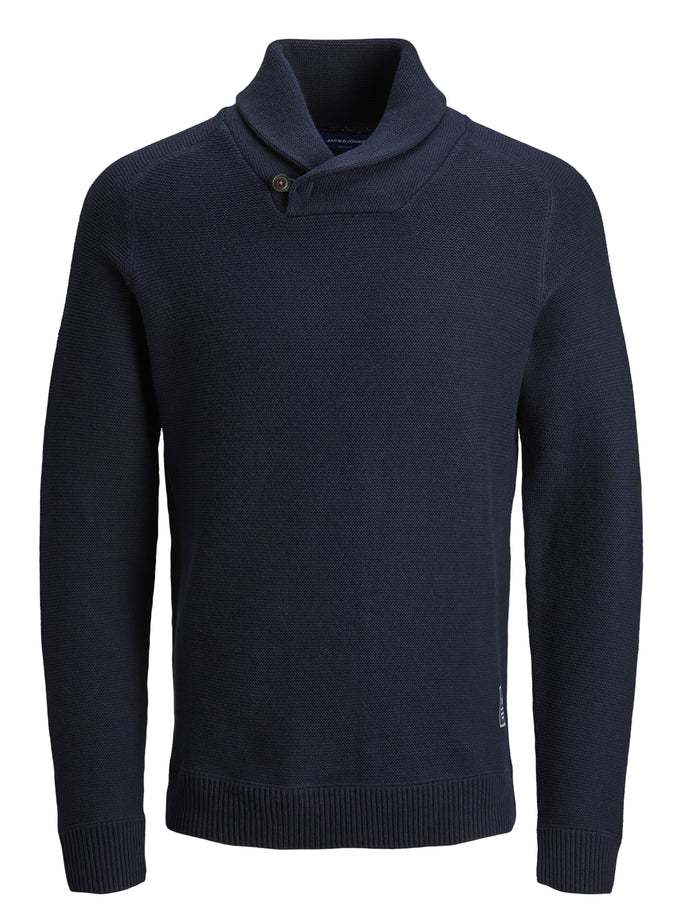 SHAWL NECK ORIGINALS SWEATER NAVY BLAZER