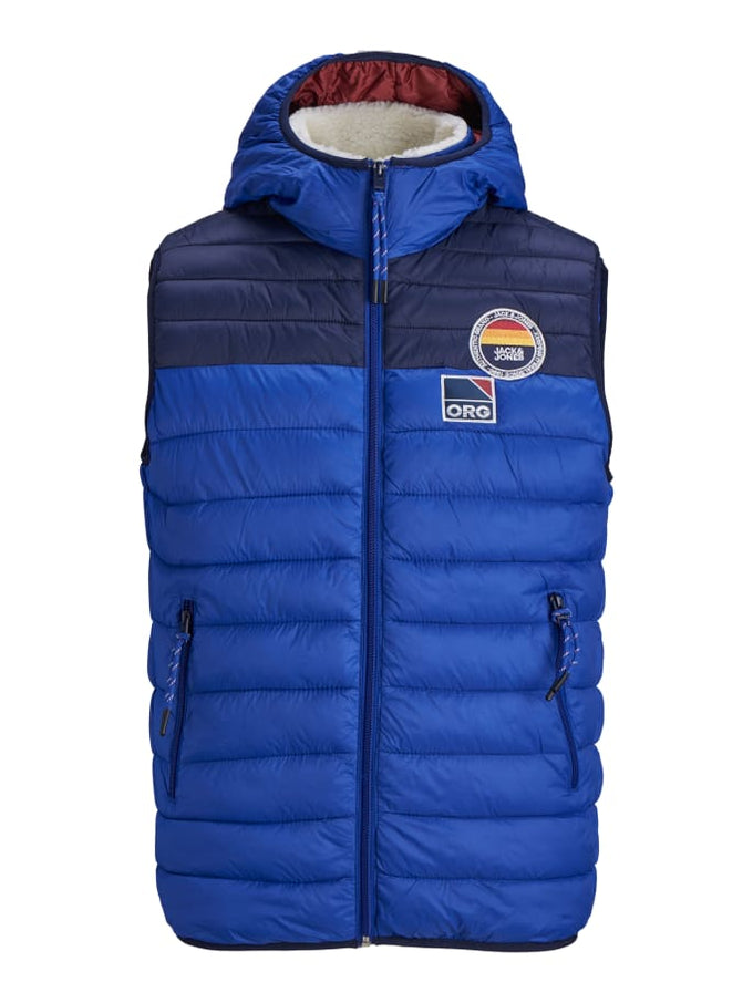 QUILTED VEST WITH TEDDY LINED HOOD SURF THE WEB