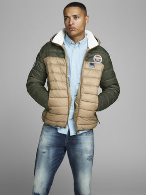 PUFFER JACKET WITH TEDDY LINING