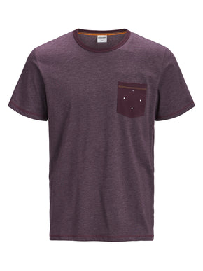 DOTTED PRINT POCKET T-SHIRT