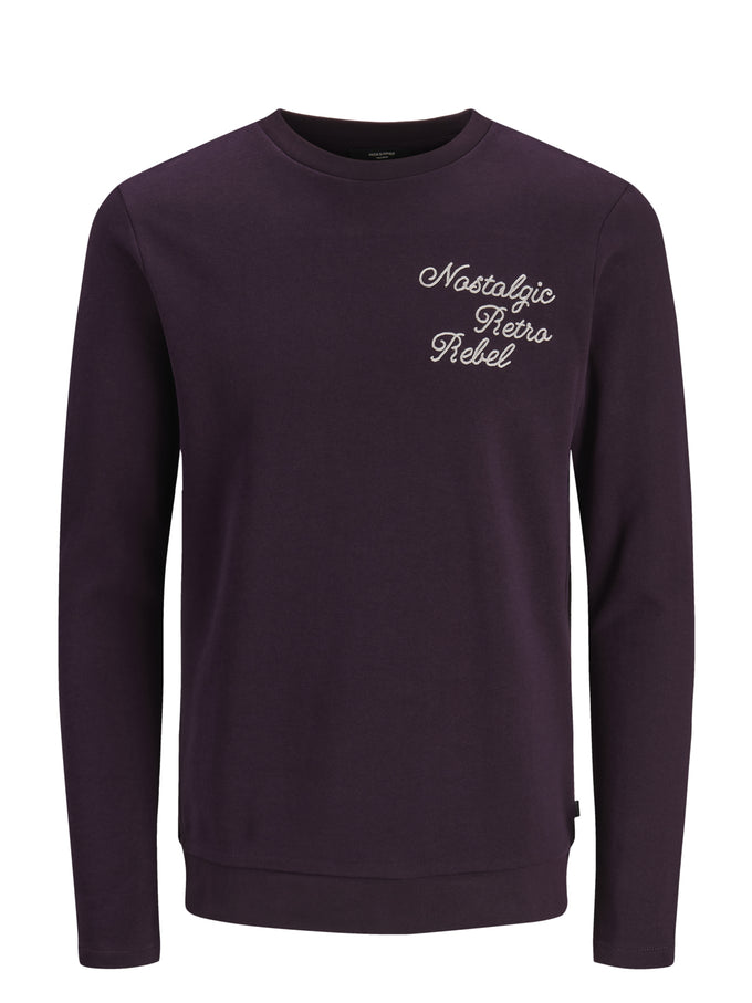 PREMIUM SCRIPT SWEATSHIRT DARK PURPLE