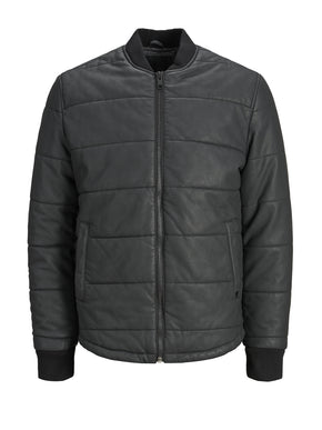 FAUX-LEATHER PREMIUM PUFFER JACKET