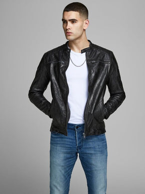 LAMB LEATHER MOTO JACKET