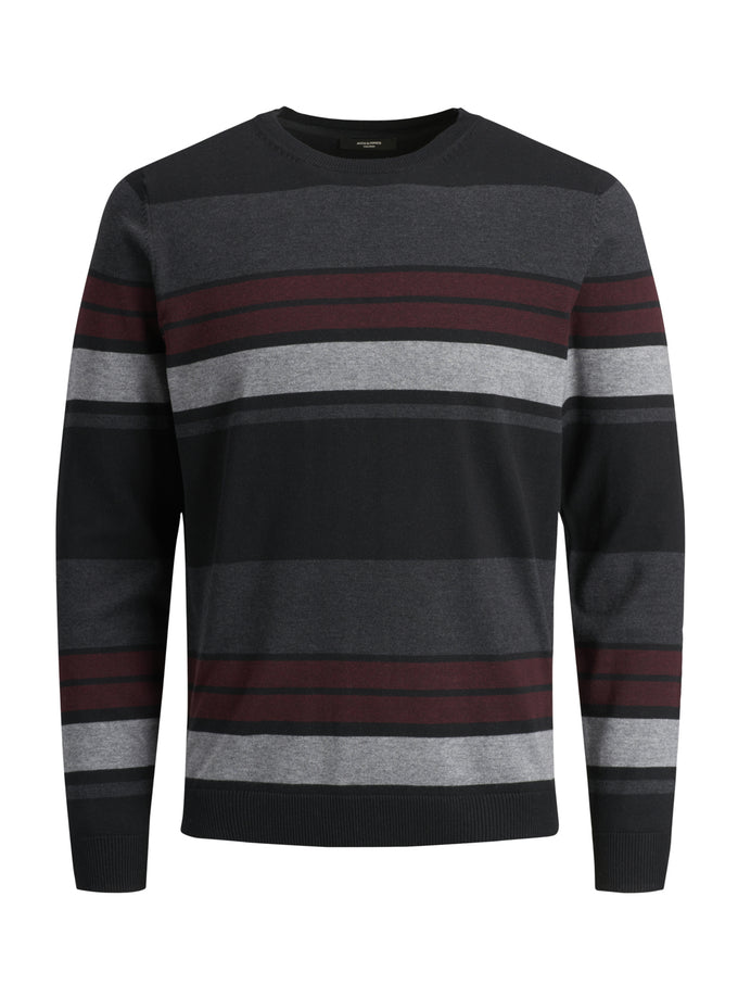 FAST STRIPED PREMIUM SWEATER BLACK