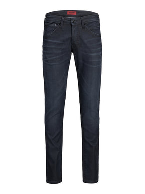 GLENN 123 INDIGO KNIT SLIM FIT STRETCH JEANS