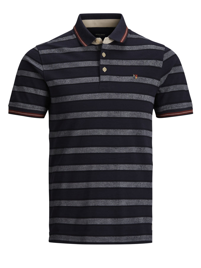 STRIPED PAULOS POLO DARK NAVY