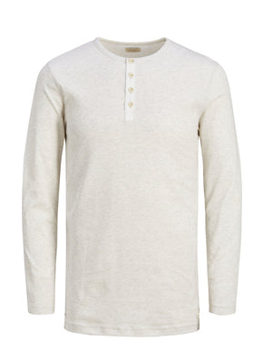 T-SHIRT MANCHES LONGUES GIOVANNI STYLE HENLEY