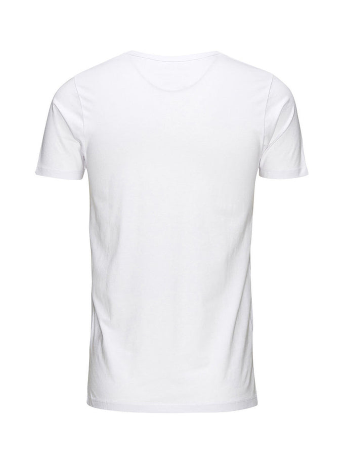 BASIC V-NECK T-SHIRT OPTICAL WHITE