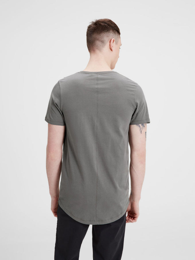 PREMIUM SLIM FIT LONG T-SHIRT DARK GULL GREY