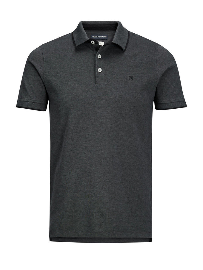 JJPRPAULOS POLO DARK GREY MELANGE