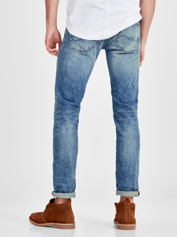 dc29e321 TIM 925 SLIM FIT JEANS WITH RIPPED DETAILS BLUE DENIM