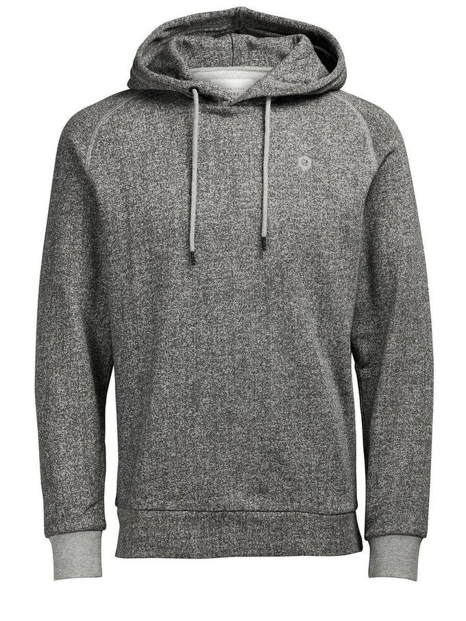 EMBROIDERED LOGO HOODIE LIGHT GREY MELANGE