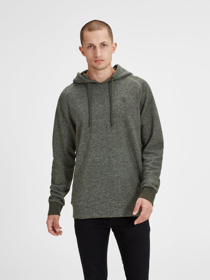 EMBROIDERED LOGO HOODIE RIFFLE GREEN