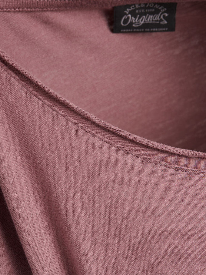 SCOOP NECK CASUAL T-SHIRT ROSE TAUPE