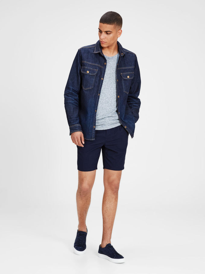 ANTI FIT CHINO SHORTS NAVY BLAZER