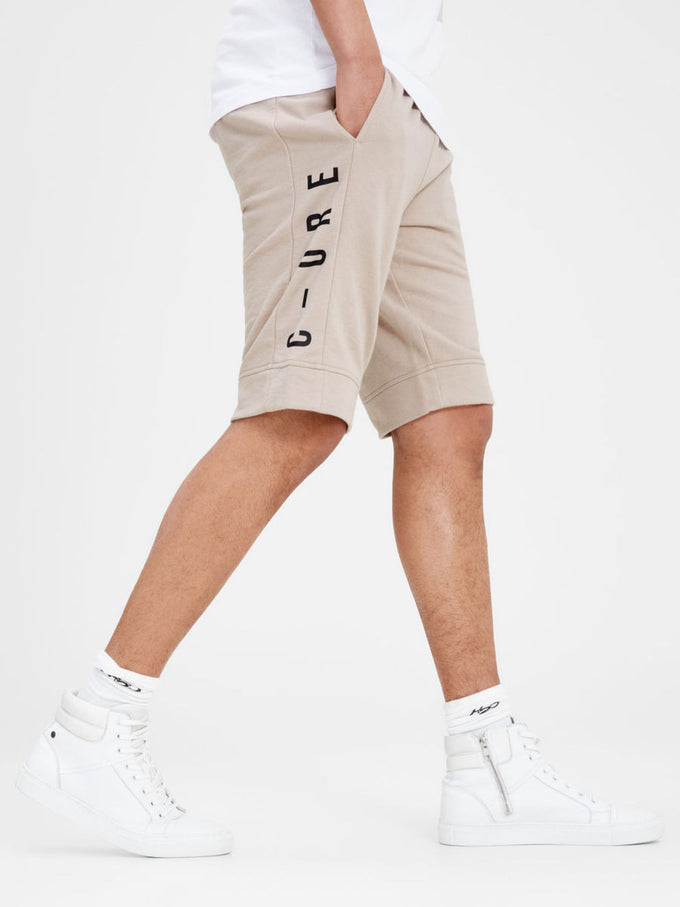 JABA SWEAT SHORTS SIMPLY TAUPE
