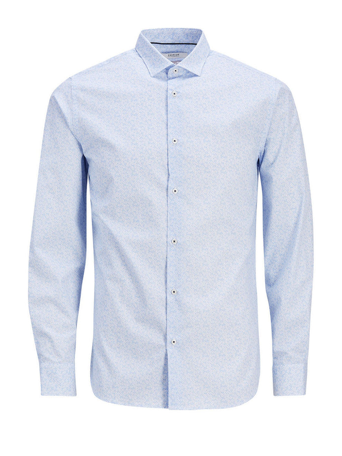 ITALIAN FABRIC DRESS SHIRT CASHMERE BLUE